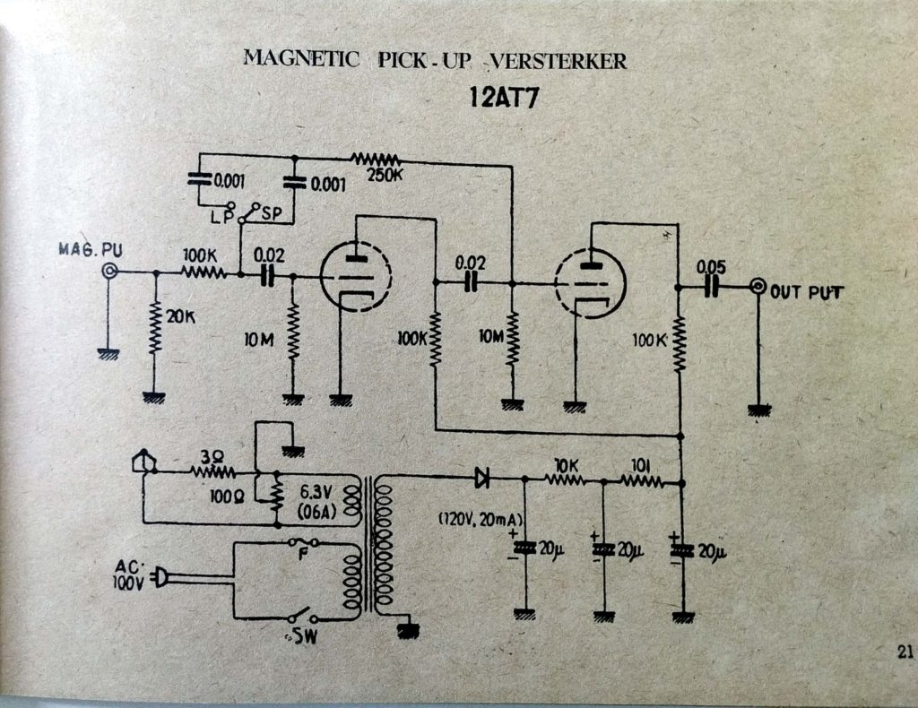 12at7 Tube Phono Pre-amp Schematic